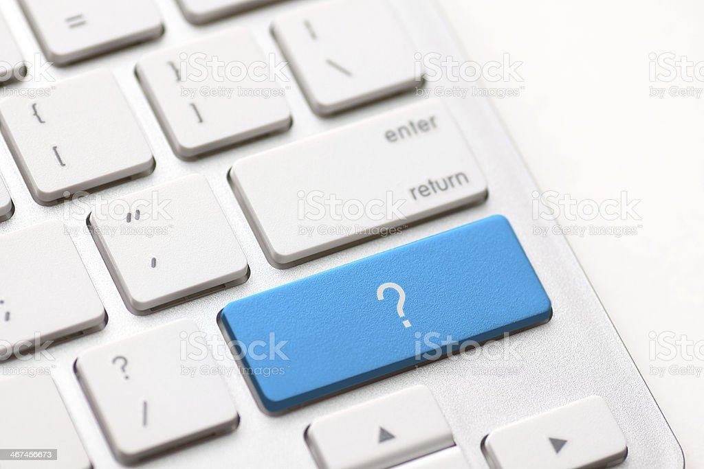 question enter button key royalty-free stock photo
