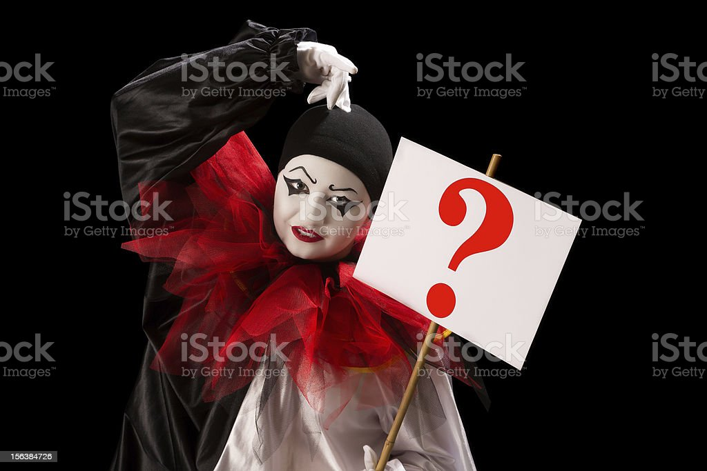 Question from Pierrot royalty-free stock photo