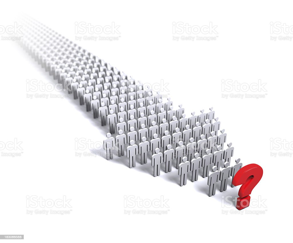 Question human arrow royalty-free stock photo