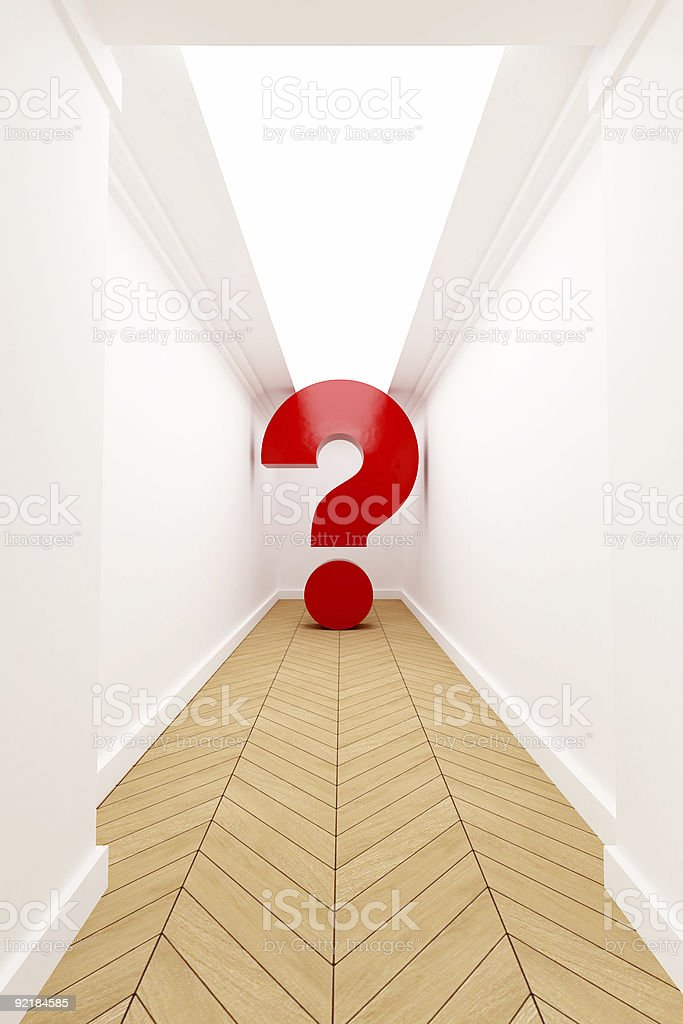 Question mark at dead end royalty-free stock photo