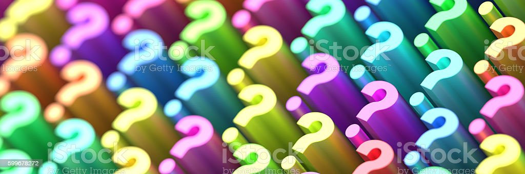 Question mark background, 3d rendering stock photo