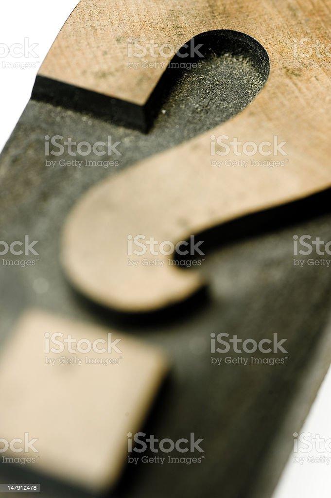 Question Mark Block typography stock photo