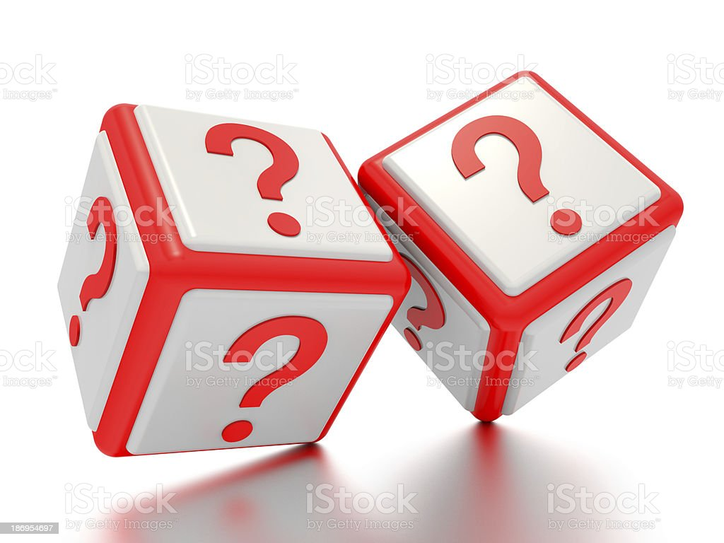 Question mark boxes. royalty-free stock photo