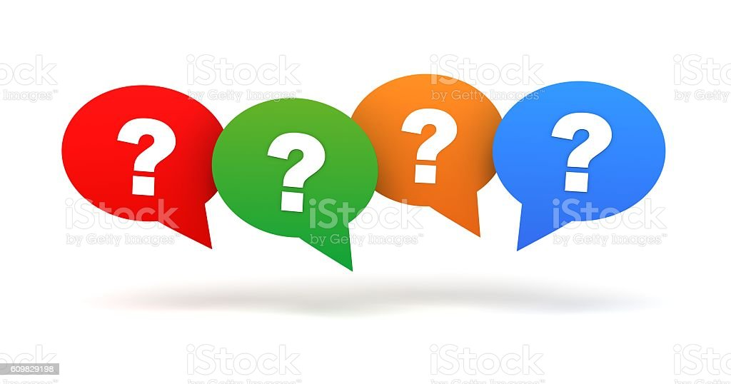 question mark concept illustration stock photo