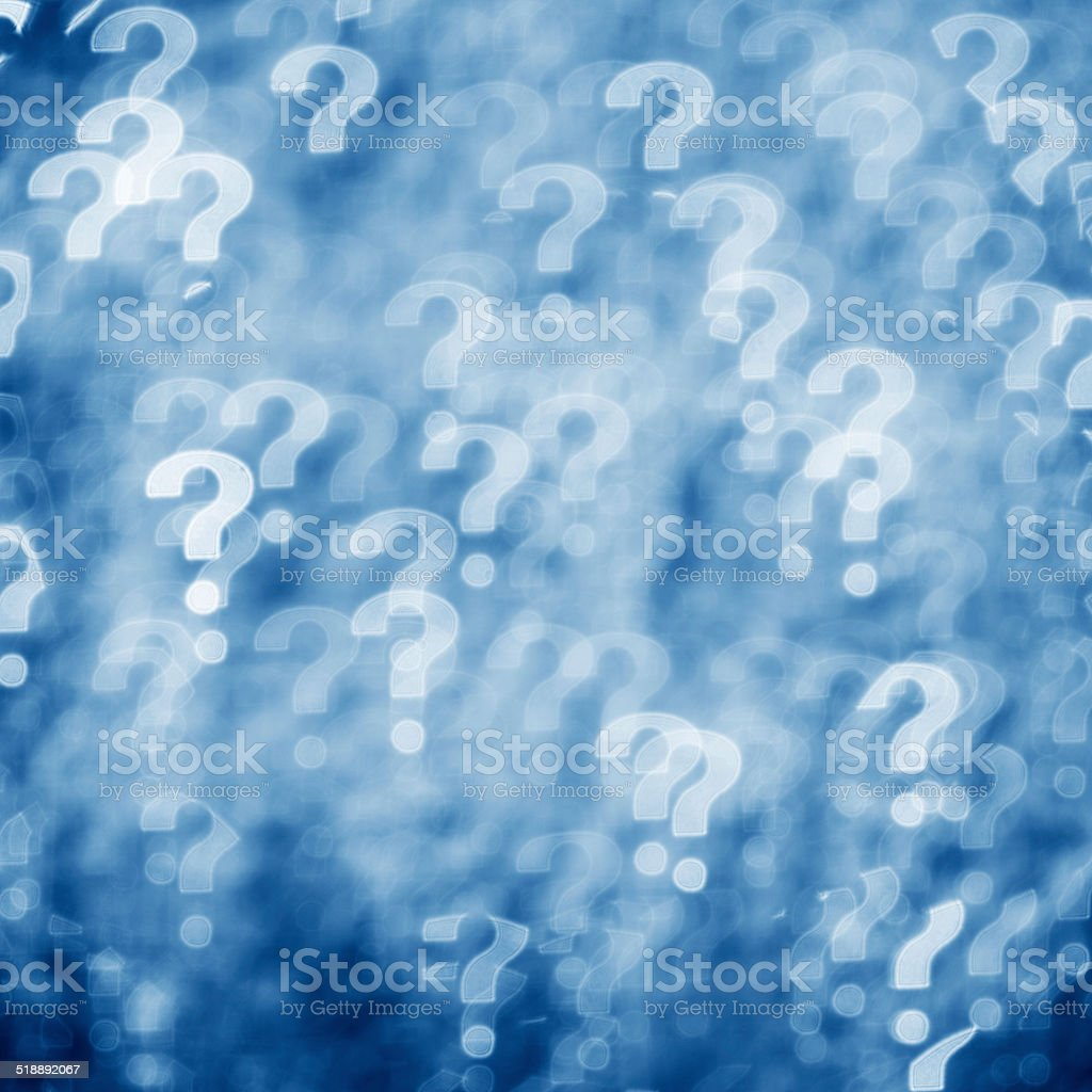 Question mark concept stock photo