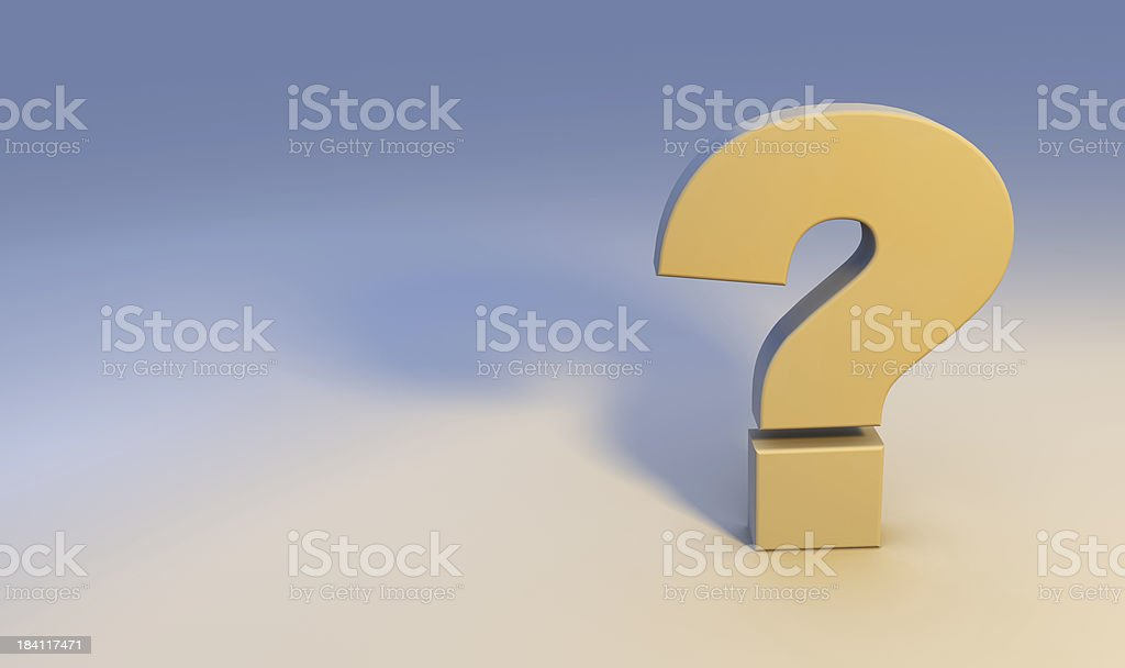 Question Mark FAQ royalty-free stock photo