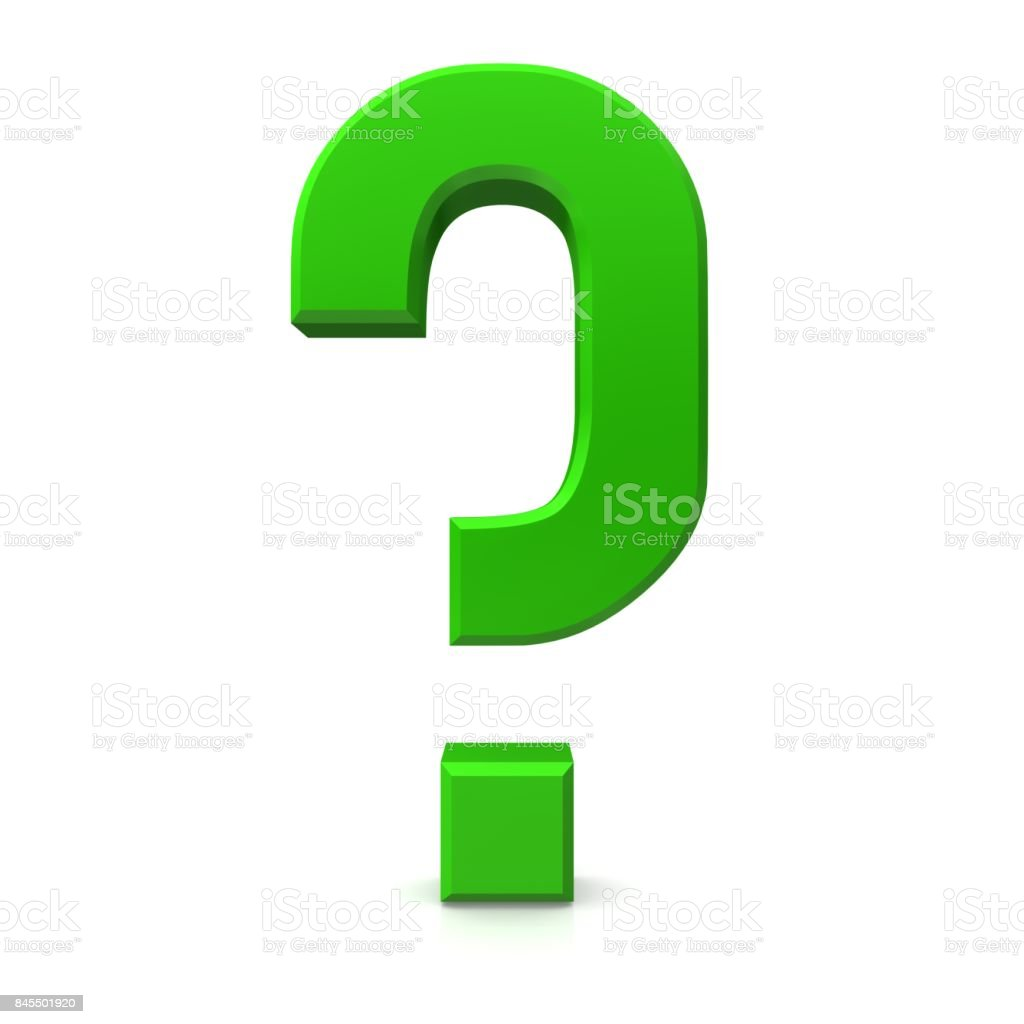 question mark green 3d interrogation point punctuation mark asking sign isolated on white stock photo