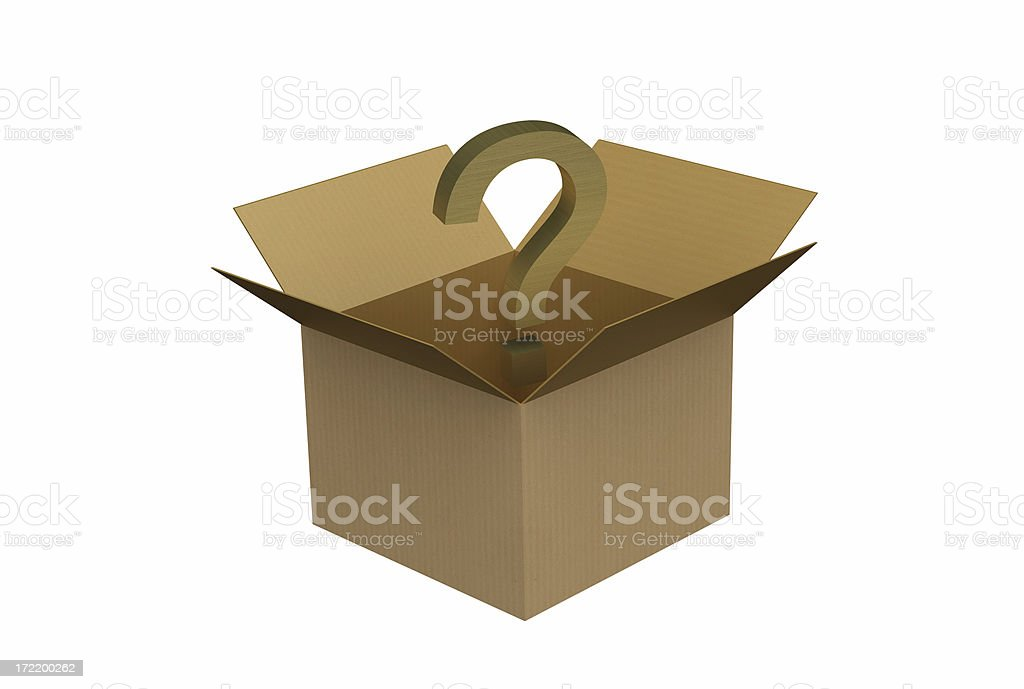Question Mark in a Box royalty-free stock photo