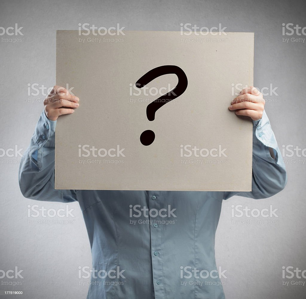 Question Mark Man royalty-free stock photo