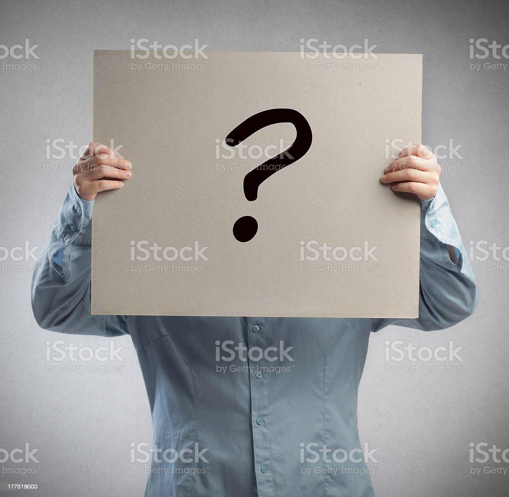 Question Mark Man stock photo