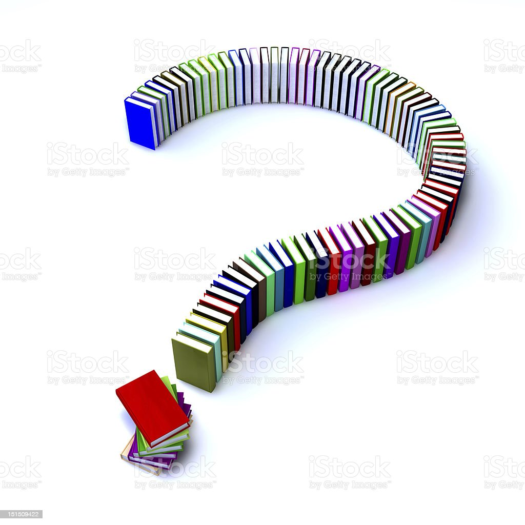 Question mark of books royalty-free stock photo