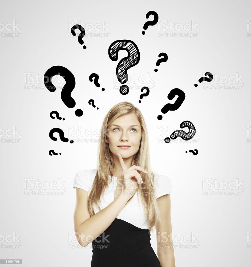 question mark over head royalty-free stock photo
