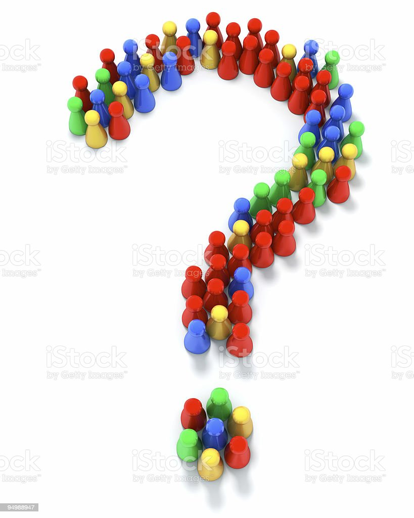 Question mark royalty-free stock photo