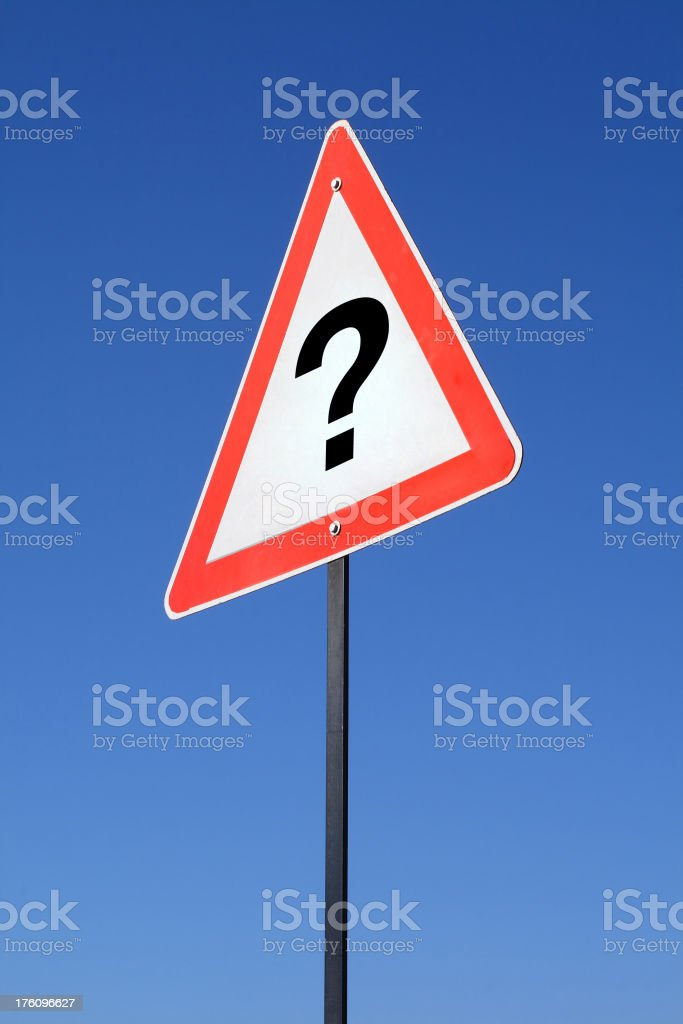Question mark sign royalty-free stock photo