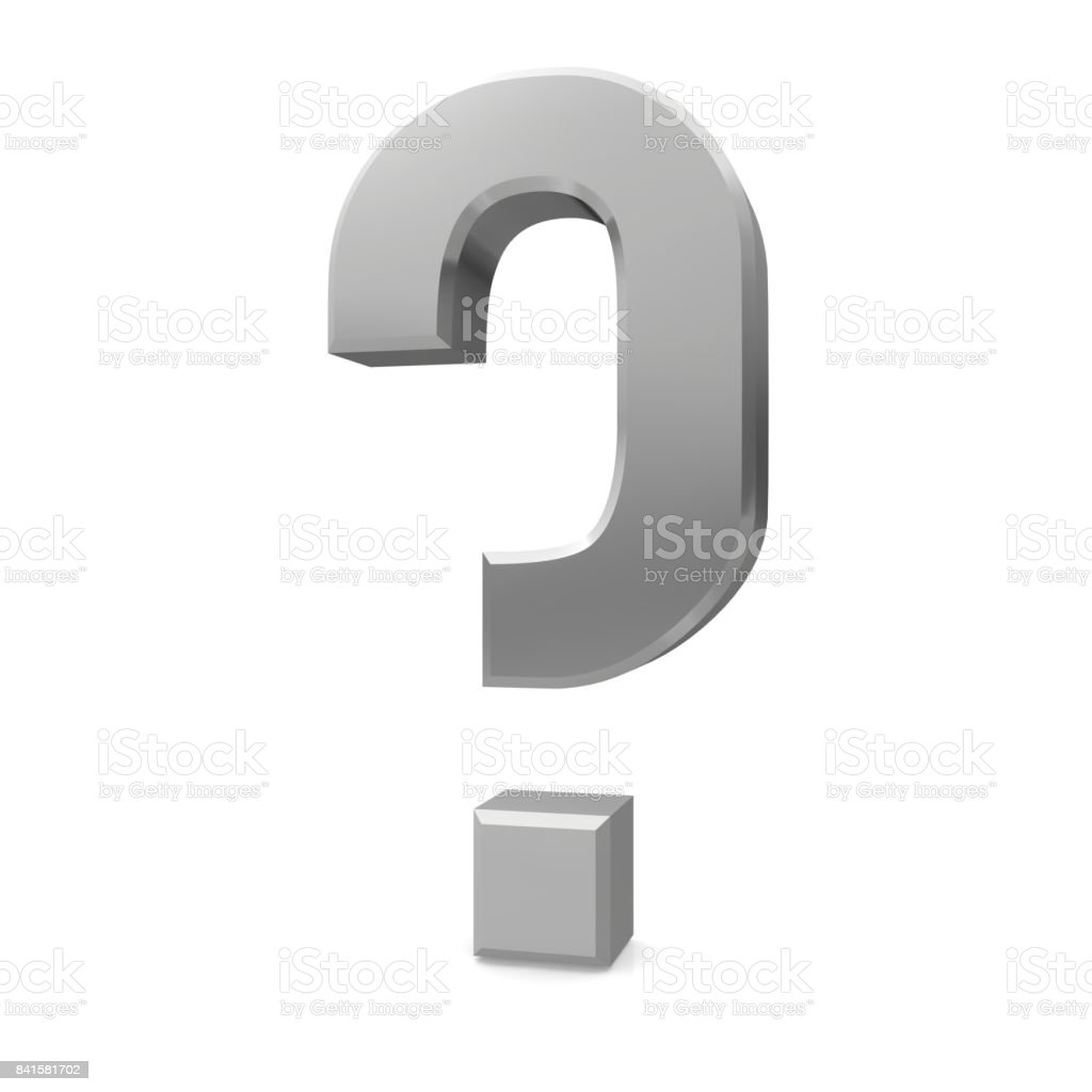 question mark silver grey gray 3d interrogation point punctuation mark asking sign icon question symbol isolated on white stock photo