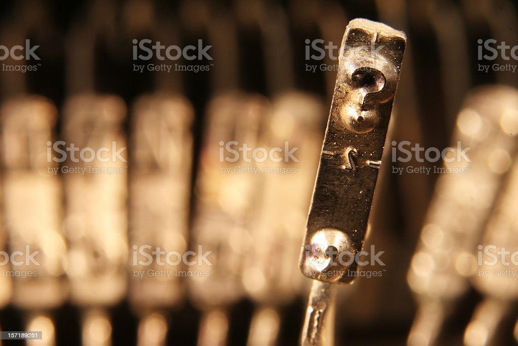 Question mark typebar royalty-free stock photo