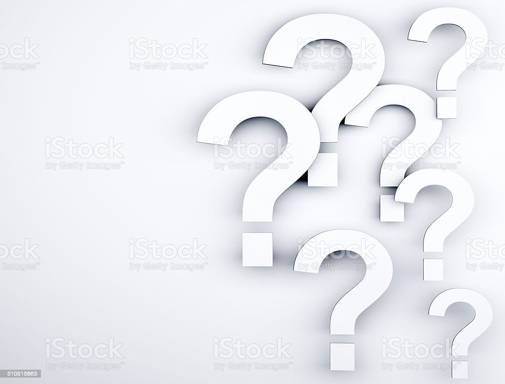 Question marks background stock photo