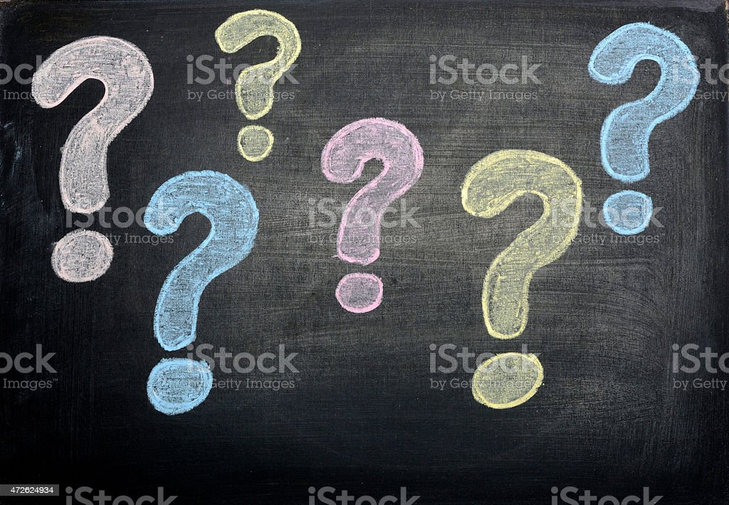 Question Marks Handwriting stock photo