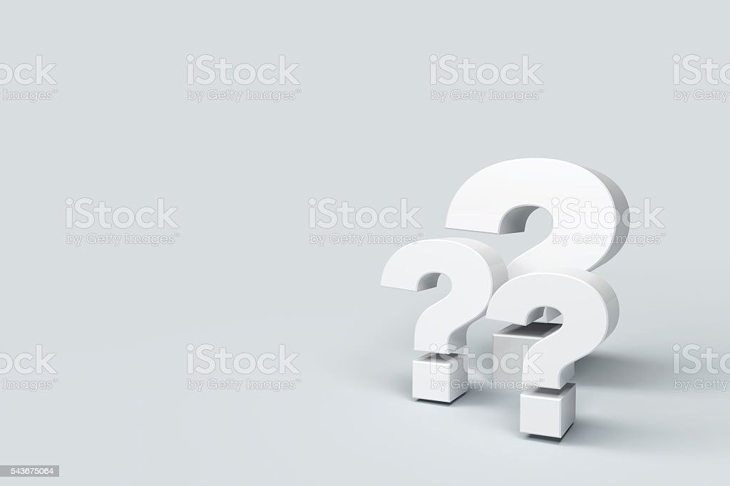 question marks on background stock photo