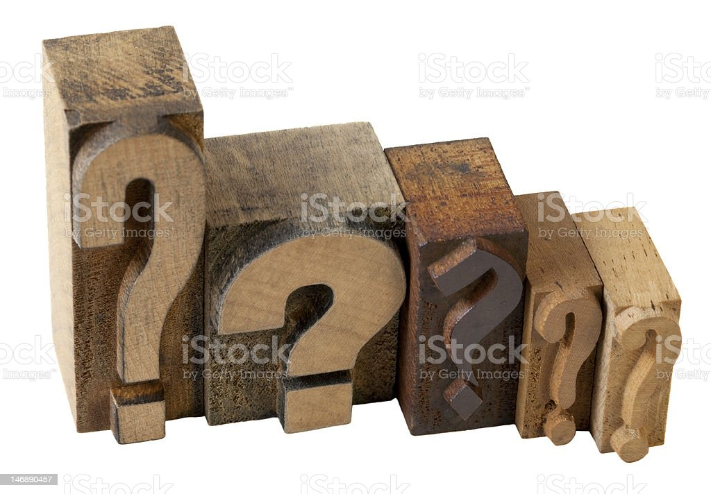 question marks stock photo