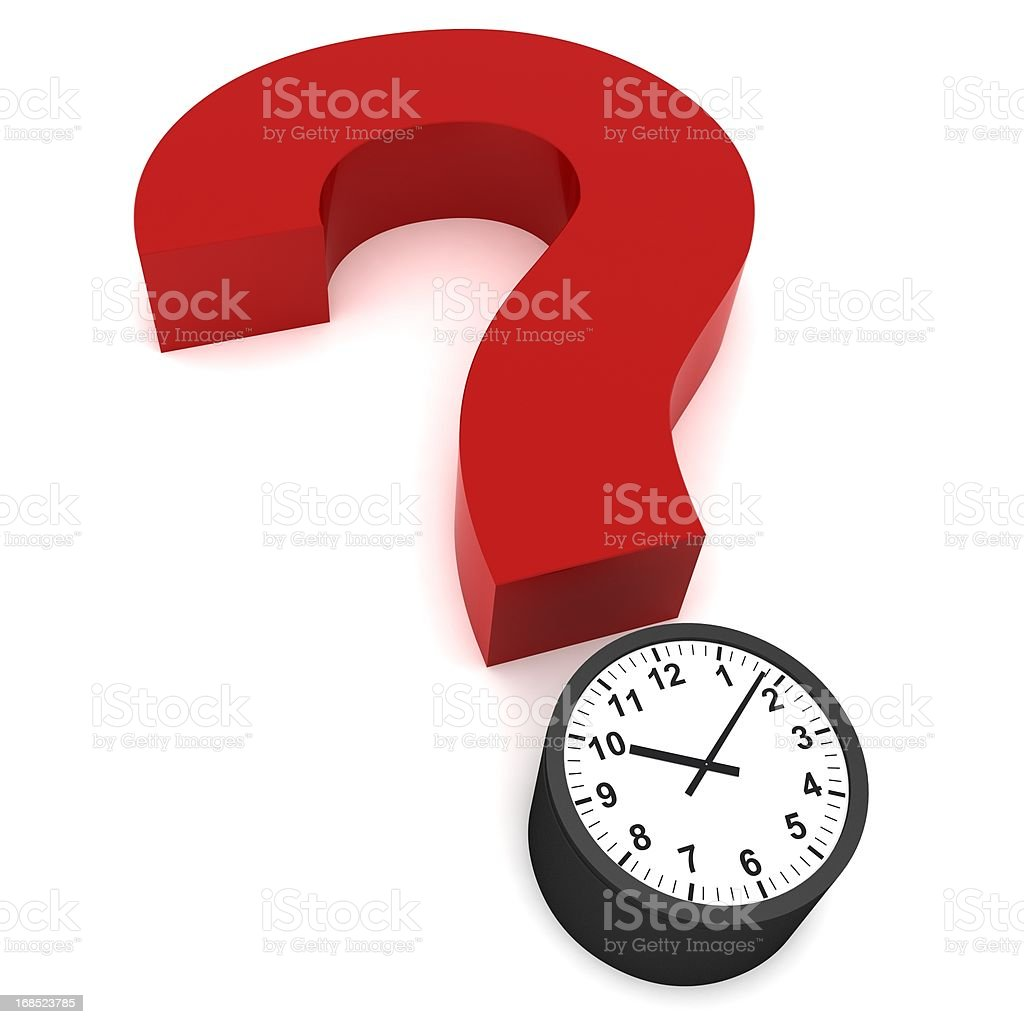 Question of Time royalty-free stock photo