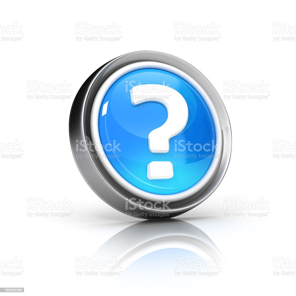 question or help icon stock photo