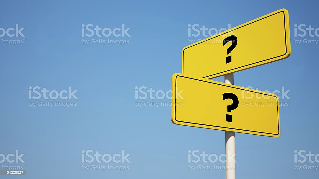 Question Signpost with Clipping Path royalty-free stock photo