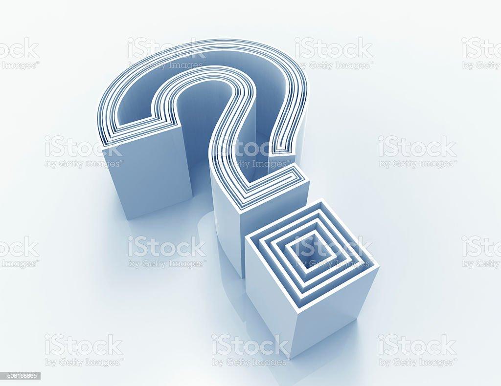 Question symbol stock photo
