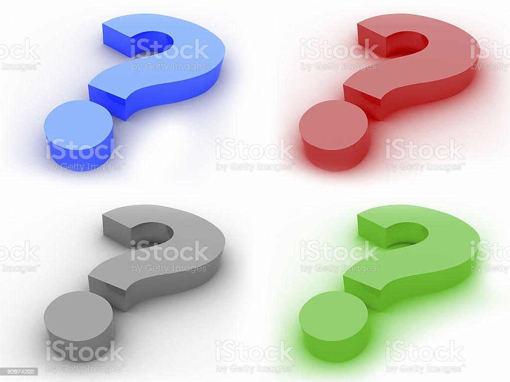 Question symbols royalty-free stock photo