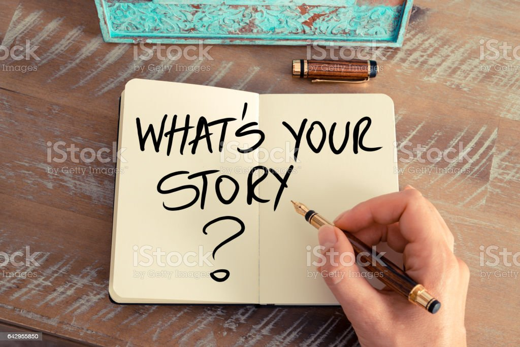 Question What Is Your Story ? stock photo
