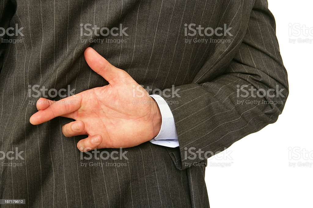 Questionable Ethics royalty-free stock photo