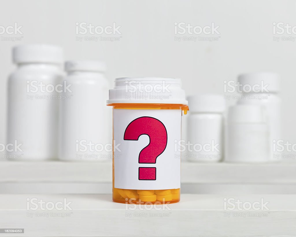 Questionable Medication royalty-free stock photo