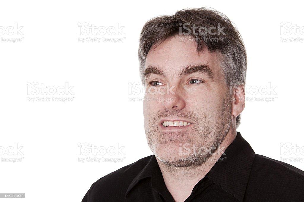 Questioning Caucasian Man royalty-free stock photo