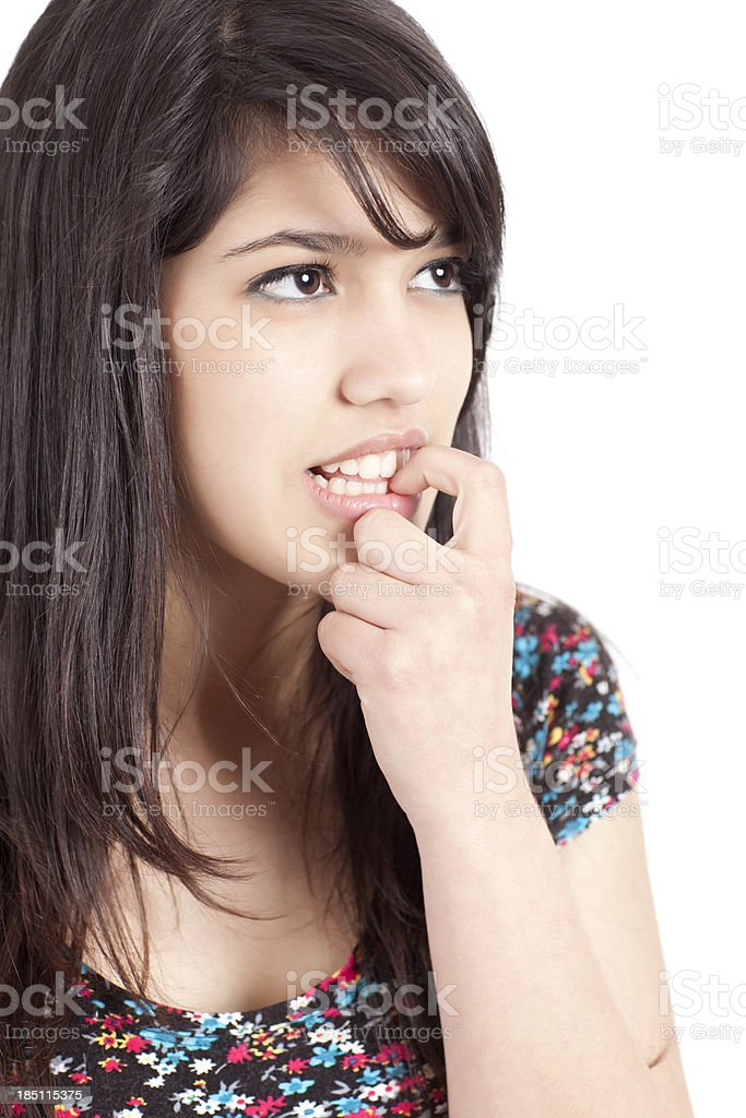 Questioning face. royalty-free stock photo