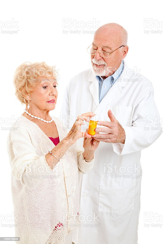 Questioning the Pharmacist royalty-free stock photo