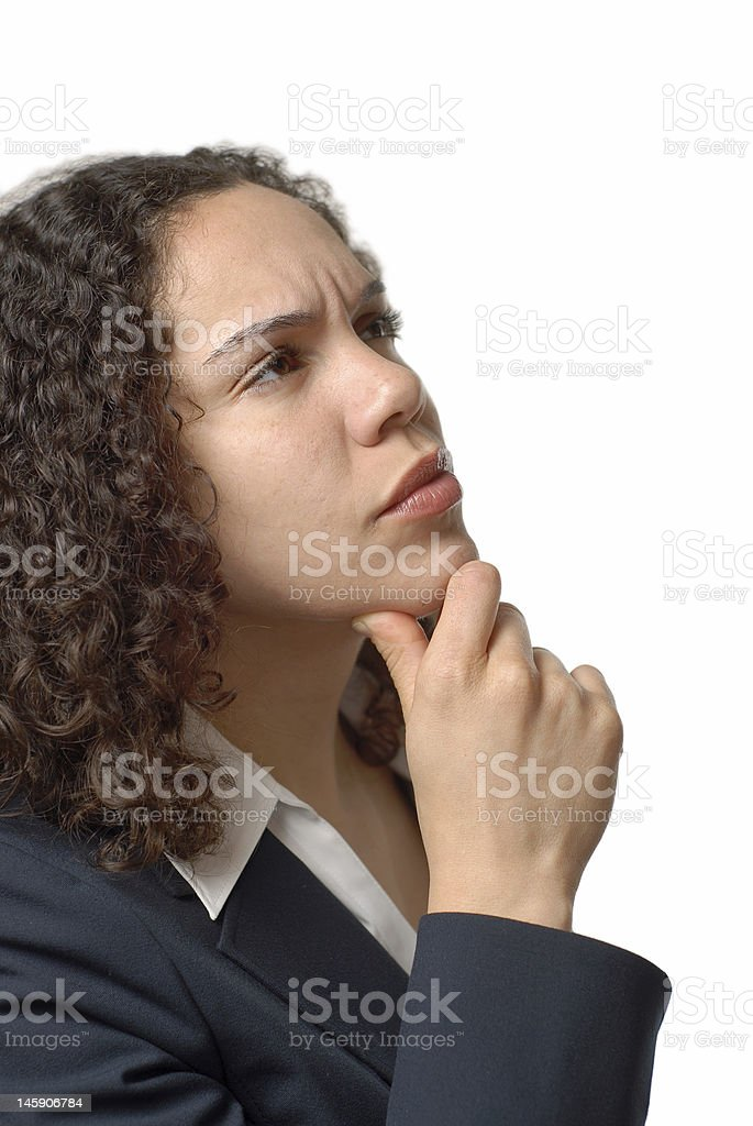 Questioning young woman royalty-free stock photo