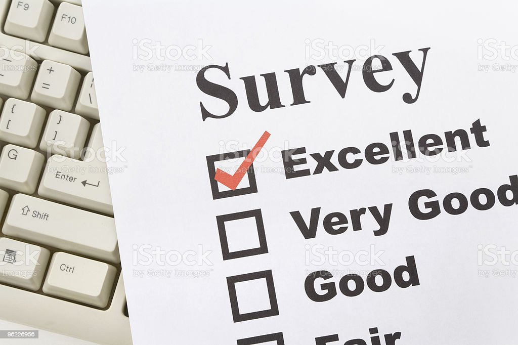 questionnaire and computer keyboard royalty-free stock photo