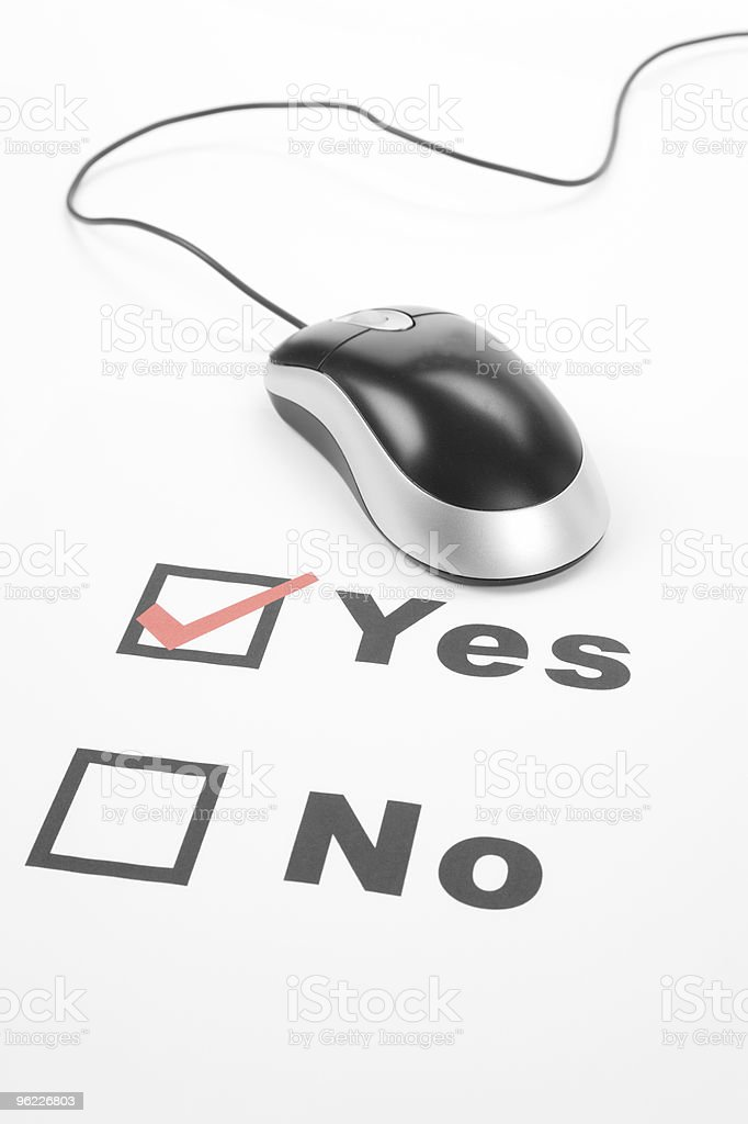 questionnaire and computer mouse royalty-free stock photo