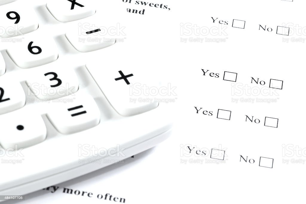 questionnaire fill stock photo