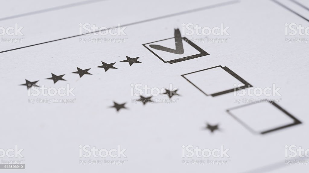 Questionnaire Form With Selective Focus stock photo