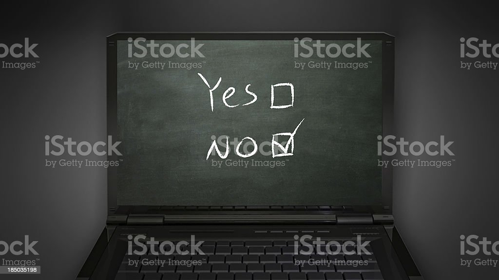 questionnaire no selection royalty-free stock photo