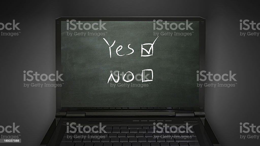 questionnaire yes box royalty-free stock photo