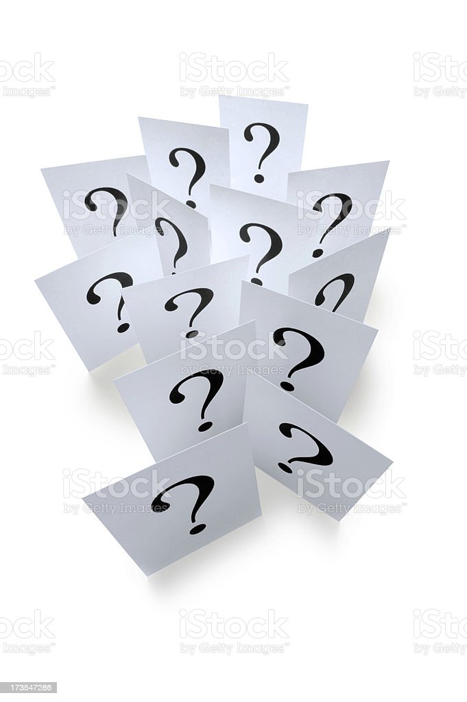 Questions 2 royalty-free stock photo