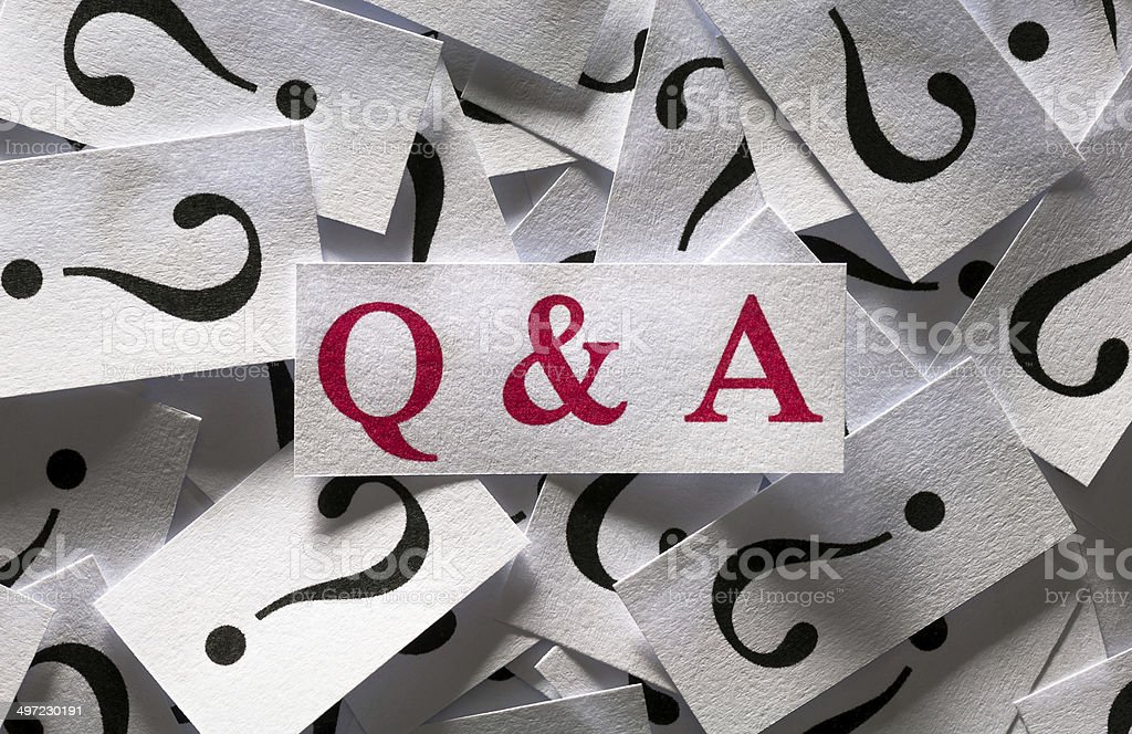 Questions & Answers stock photo