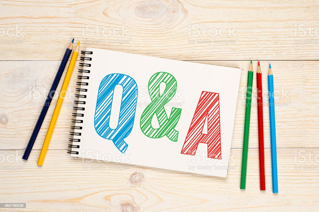 Q&A, questions and answers concept stock photo