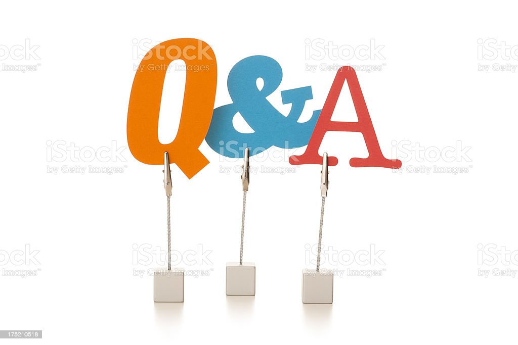 Questions and answers royalty-free stock photo