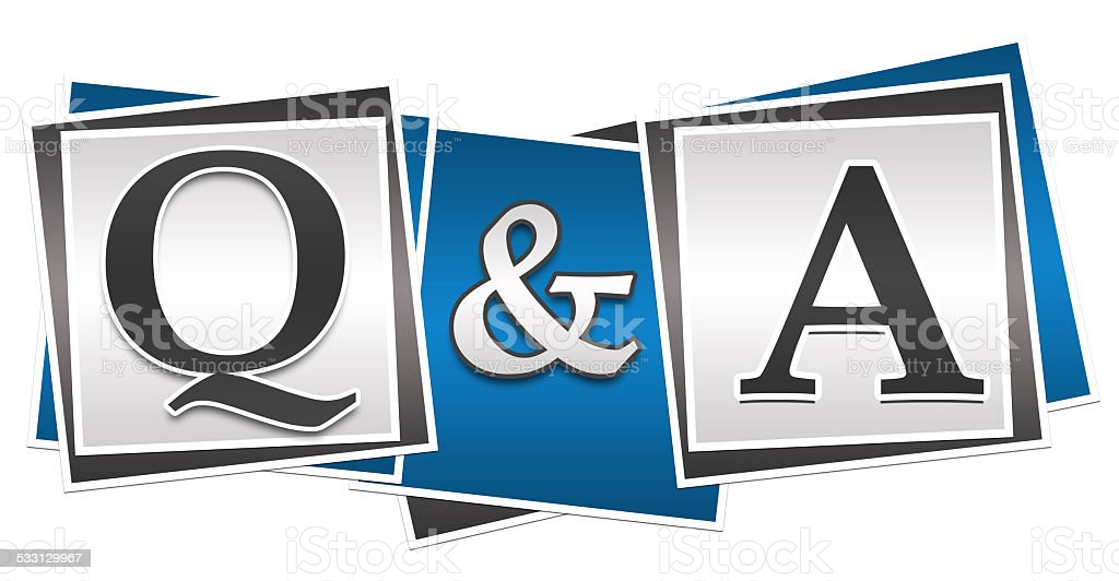 Questions And Answers Three Blocks stock photo