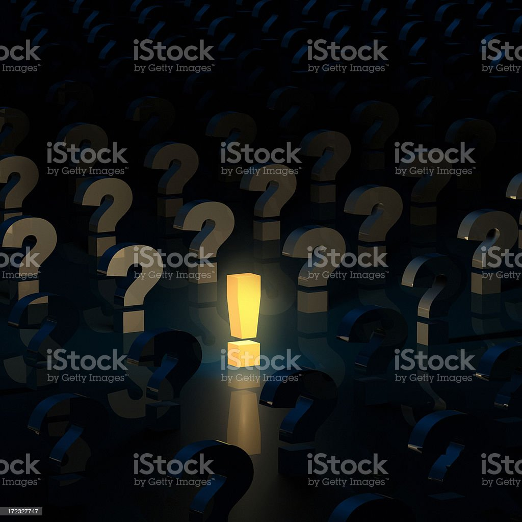 Questions Answered royalty-free stock photo