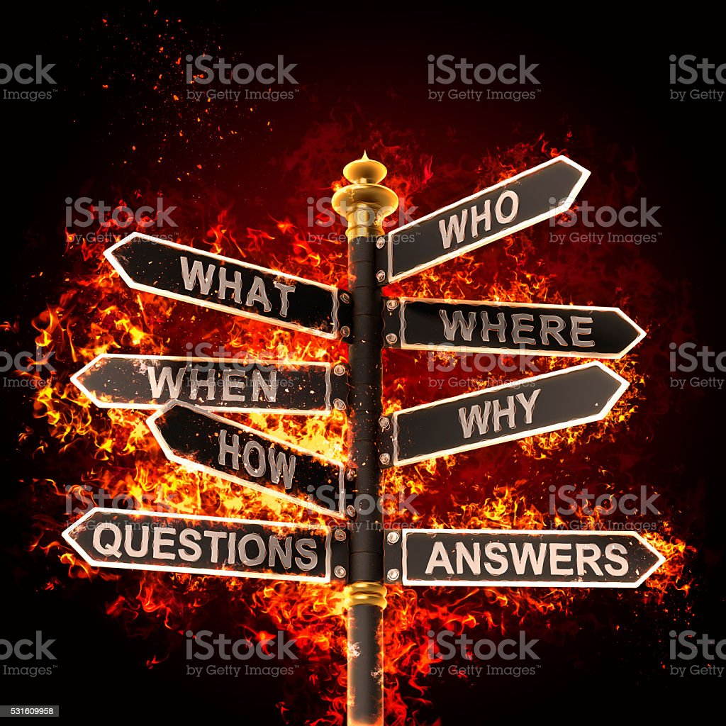 questions answers stock photo