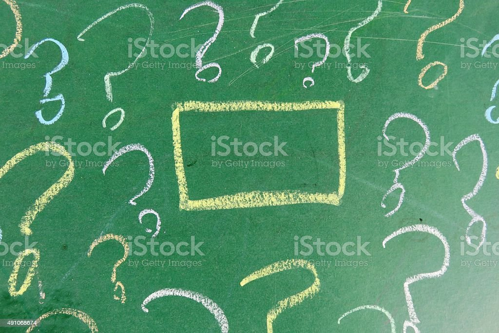 questions Background stock photo